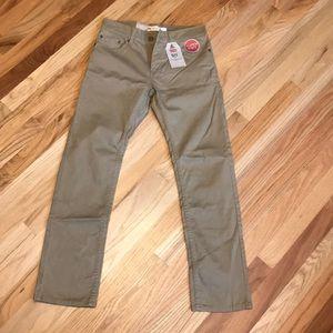 Boys Levi's 511 khakis